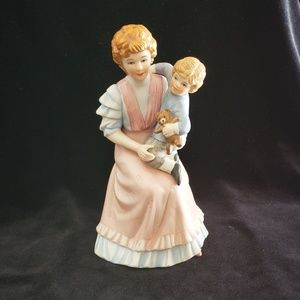 Homeco Mother and Son Porcelain Figurine #1460